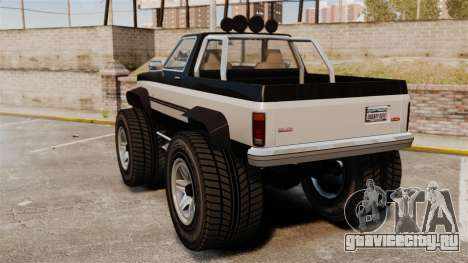 Monster Truck для GTA 4 вид сзади слева