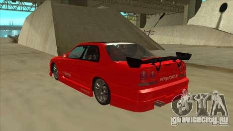 Nissan Skyline ER34 JDMGarage для GTA San Andreas вид сзади