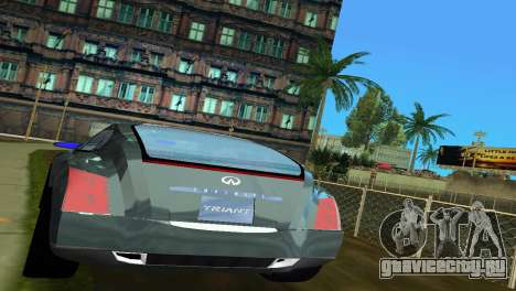 Infiniti Triant для GTA Vice City вид сзади