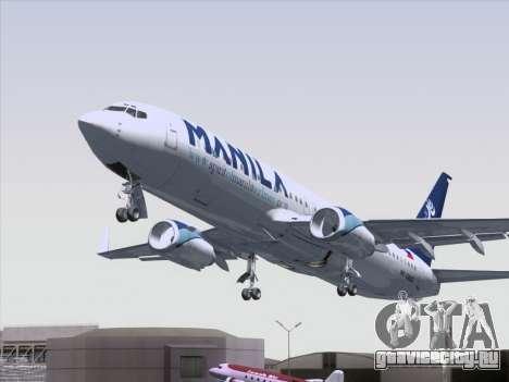 Boeing 737-800 Spirit of Manila Airlines для GTA San Andreas вид сверху