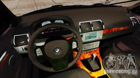 BMW X5 4.8iS v3 для GTA 4 вид сверху