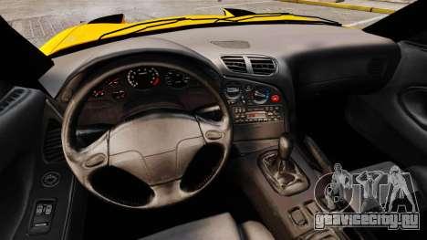 Mazda RX-7 FD3S для GTA 4 вид изнутри