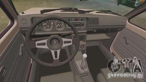 Volkswagen Golf MK1 GTI для GTA 4 вид сзади