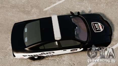 Dodge Charger Pursuit 2012 [ELS] для GTA 4 вид справа