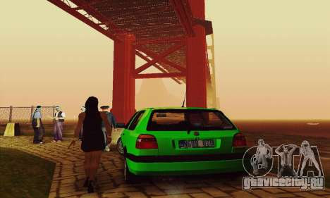 Volkswagen Golf Mk3 GTi 1997 для GTA San Andreas вид сзади