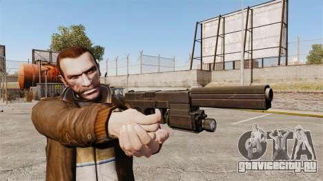 Тактический пистолет Glock 18 v2 для GTA 4