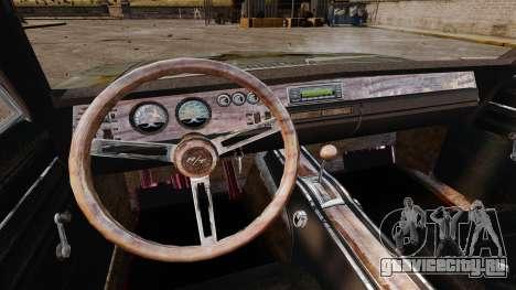 Dodge Charger RT 1969 ржавый v1.1 для GTA 4 вид сверху