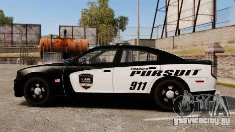 Dodge Charger Pursuit 2012 [ELS] для GTA 4 вид слева