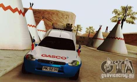 Chevrolet Combo Gasco для GTA San Andreas вид сзади слева