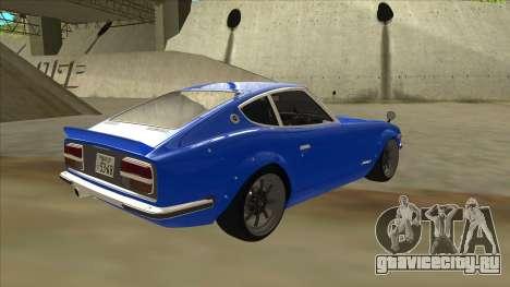 Nissan Wangan Midnight Devil Z S30 для GTA San Andreas вид справа