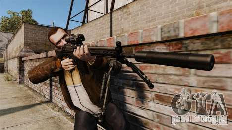 Снайперская винтовка HK G3SG1 v1 для GTA 4 третий скриншот