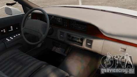 Chevrolet Caprice 1994 [ELS] для GTA 4 вид изнутри