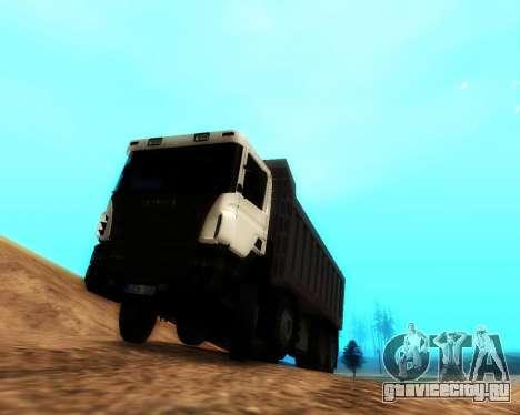 Scania P420 8X4 Dump Truck для GTA San Andreas вид слева