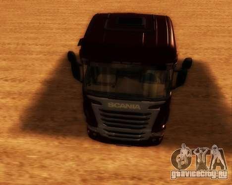 Scania R440 для GTA San Andreas вид сзади