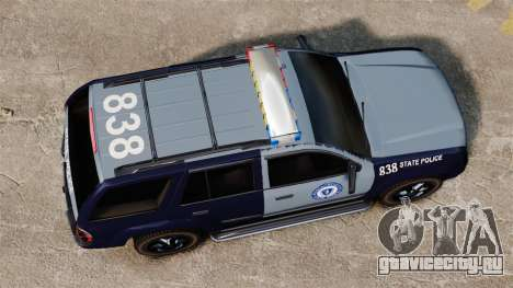 Chevrolet Trailblazer 2002 Massachusetts Police для GTA 4 вид справа