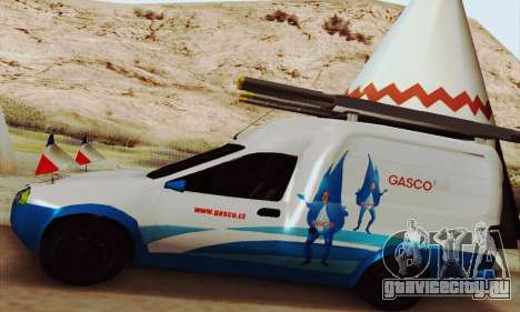 Chevrolet Combo Gasco для GTA San Andreas вид сзади