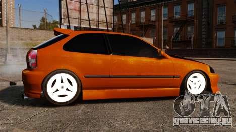 Honda Civic Gtaciyiz 2 для GTA 4 вид слева