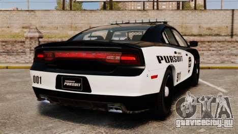 Dodge Charger Pursuit 2012 [ELS] для GTA 4 вид сзади слева
