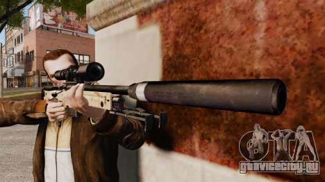 Снайперская винтовка AW L115A1 с глушителем v9 для GTA 4 третий скриншот
