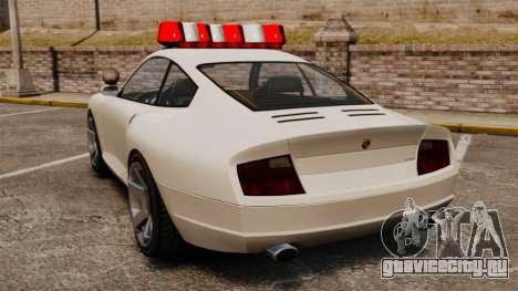 Полицейский Comet для GTA 4 вид сзади слева