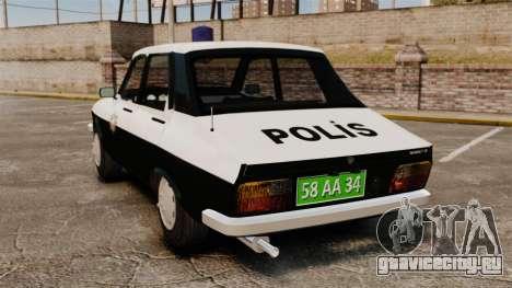 Renault 12 Classic 1980 Turkish Police для GTA 4 вид сзади слева