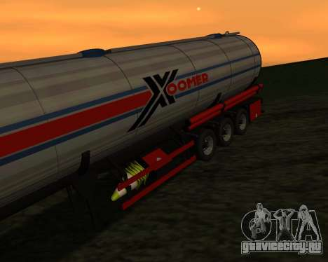 Полуприцеп Бочка Xoomer для GTA San Andreas вид сзади