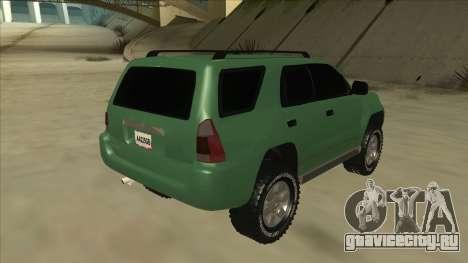 Toyota 4Runner 2009 v2 для GTA San Andreas вид справа