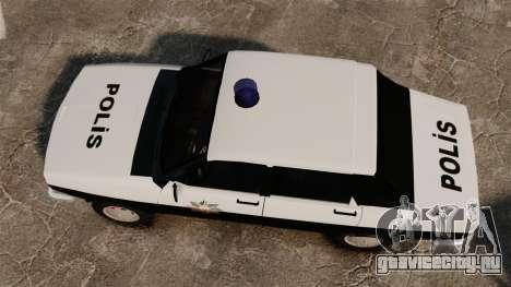 Renault 12 Classic 1980 Turkish Police для GTA 4 вид справа