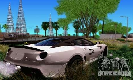 Ferrari 599xx для GTA San Andreas вид сзади слева