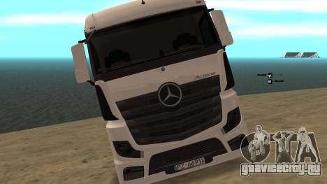 Mercedes-Benz Actros для GTA San Andreas вид справа