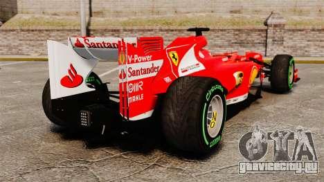 Ferrari F138 2013 v3 для GTA 4 вид сзади слева