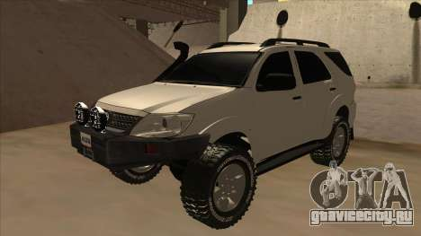 Toyota Fortunner 2012 Semi Off Road для GTA San Andreas