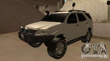 Toyota Fortunner 2012 Semi Off Road для GTA San Andreas