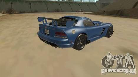 Dodge Viper SRT-10 ACR TT Black Revel для GTA San Andreas вид справа