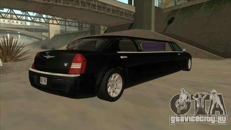 Chrysler 300C Limo 2006 для GTA San Andreas вид сзади слева