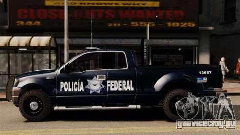 Ford F-150 De La Policia Federal [ELS & EPM] v2 для GTA 4 вид слева