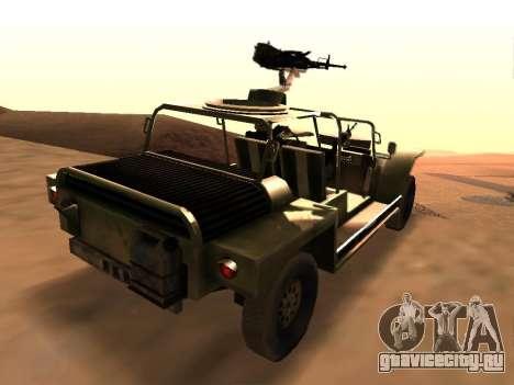 FAV из Battlefield 2 для GTA San Andreas вид сзади слева