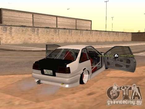 Toyota Corrola GTS JDM для GTA San Andreas вид сзади слева