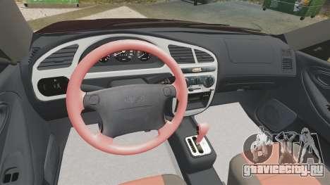 Daewoo Lanos Sport US 2001 для GTA 4 вид сверху