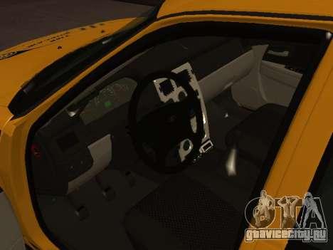ВАЗ 2170 Приора Такси для GTA San Andreas вид сзади слева