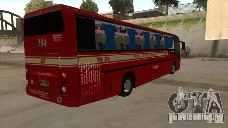 Bagong Lipunan Transit BM 384 для GTA San Andreas вид справа