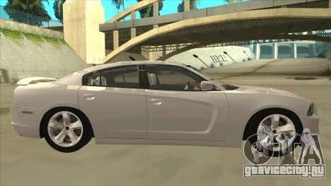 Dodge Charger RT 2011 V2.0 для GTA San Andreas вид сзади слева
