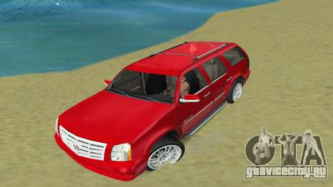 Cadillac Escalade для GTA Vice City вид сзади слева