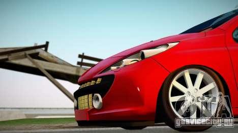Peugeot 207 для GTA San Andreas вид справа
