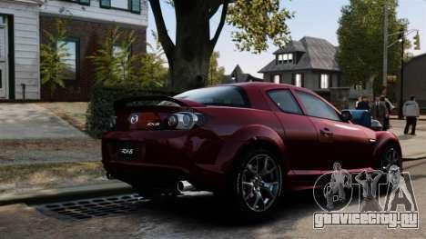 Mazda RX-8 R3 2011 для GTA 4 вид сверху
