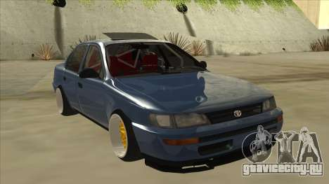 Toyota Corolla 1.6 1997 Hellaflush для GTA San Andreas вид слева