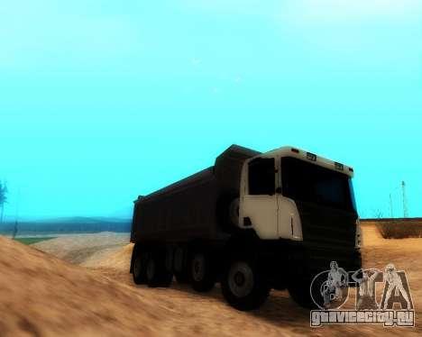 Scania P420 8X4 Dump Truck для GTA San Andreas вид сзади слева