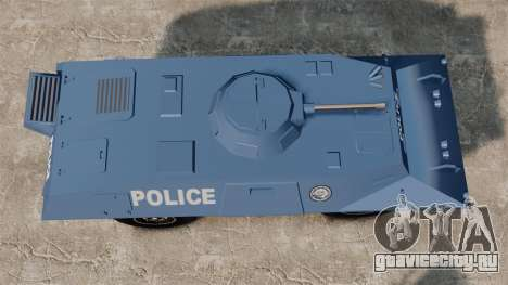 S.W.A.T. Police Van для GTA 4 вид справа