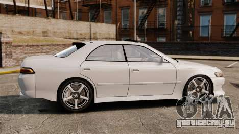 Toyota Mark II 1990 v2 для GTA 4 вид слева