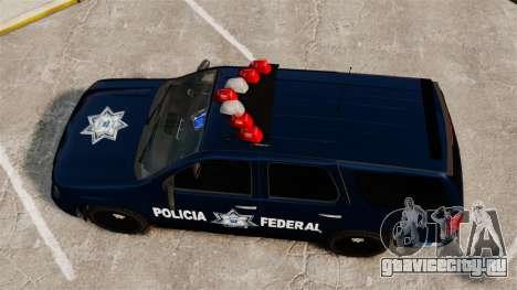 Chevrolet Tahoe 2007 De La Policia Federal [ELS] для GTA 4 вид справа